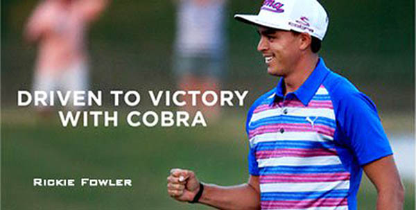 Rickie Fowler celebrates victory with Cobra Golf
