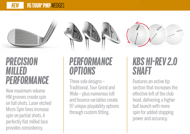 Wilson Staff FG Tour PMP wedges Features