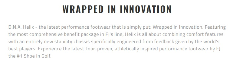 Footjoy DNA Helix Golf Shoes Wrapped in Innovation Permance