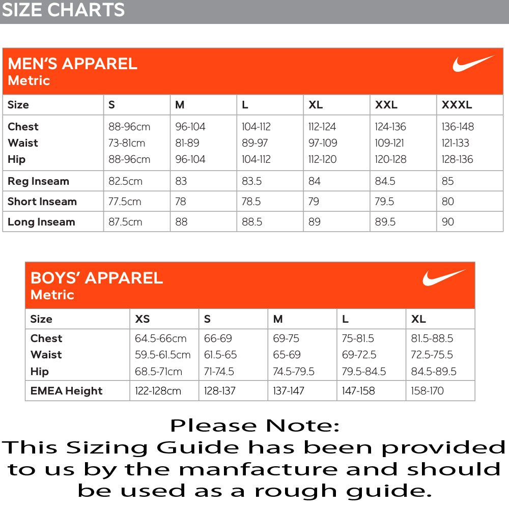 Nike Size Guide Shoes