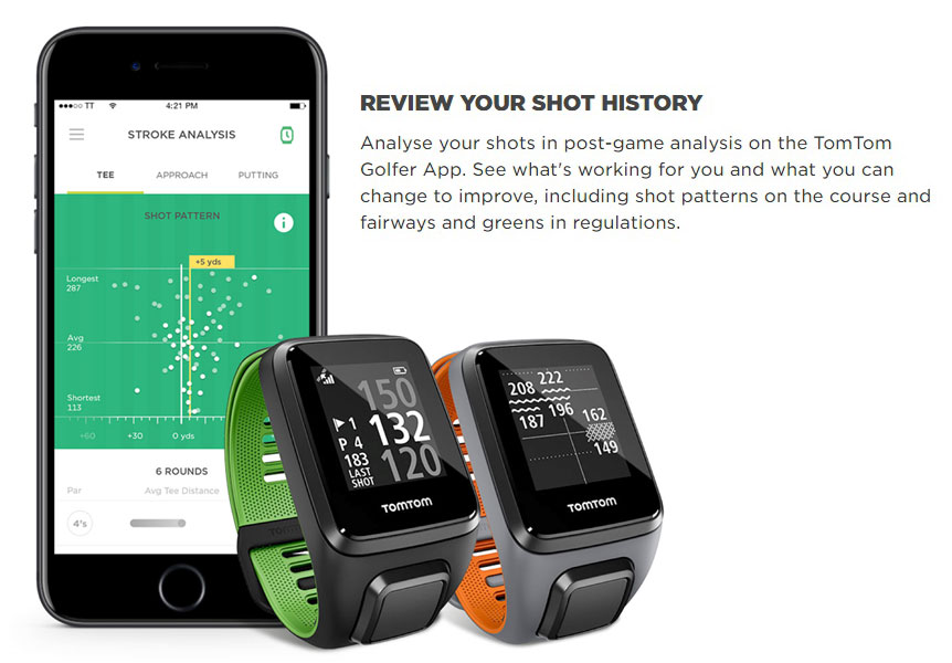 TomTom Golfer 2 SE GPS Watch Review your History