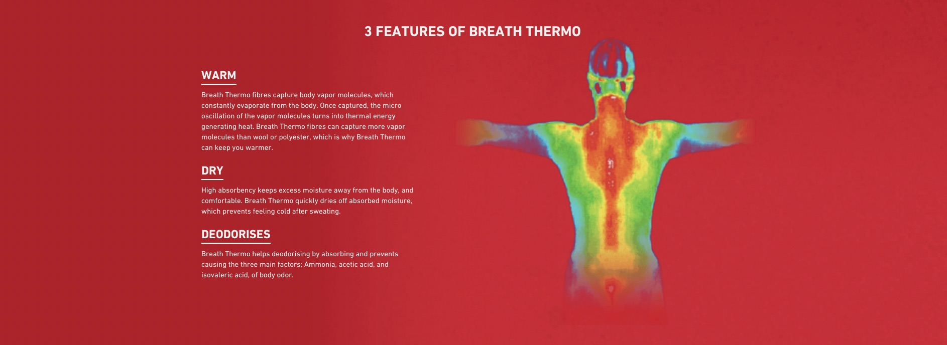 Features of Mizuno breath thermo