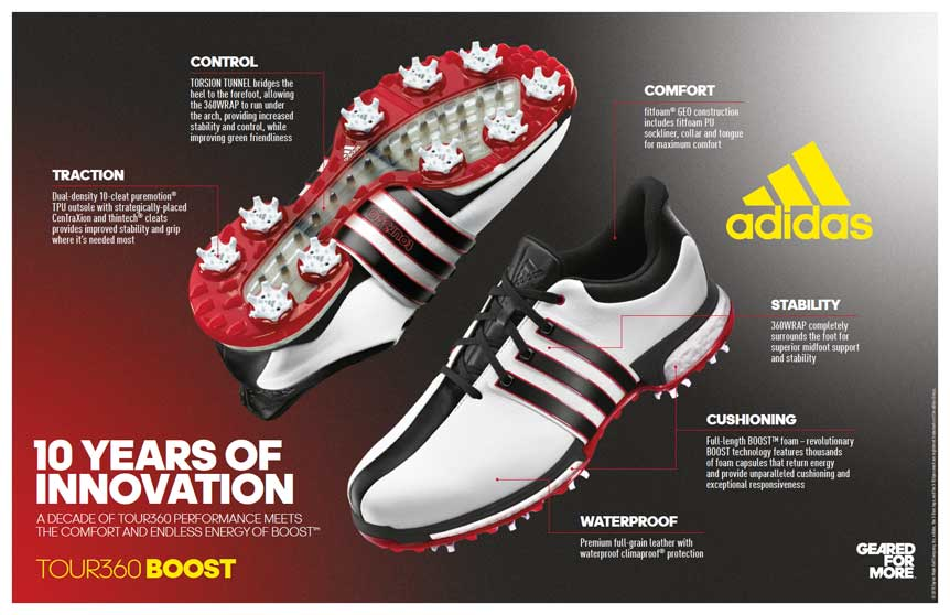 Adidas TOUR360 BOOST technology