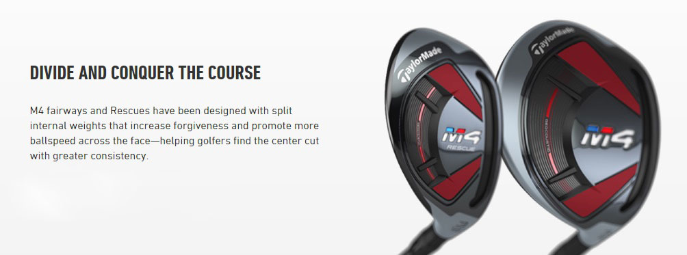 TaylorMade M4 Fairway and Hybrids Internal Weights