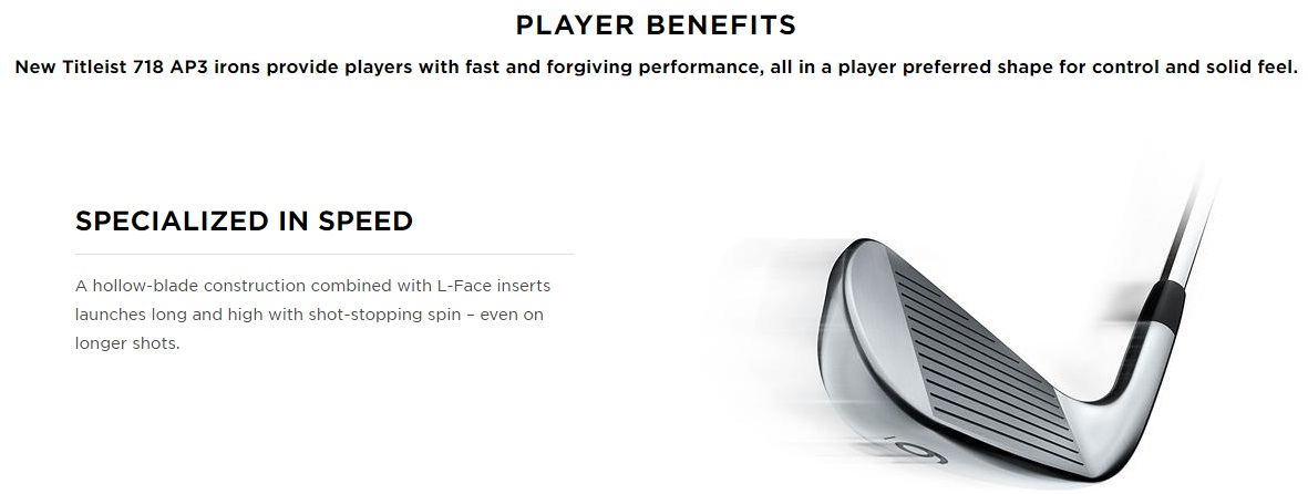 Titleist AP3 718 Golf Iron Players Benefits