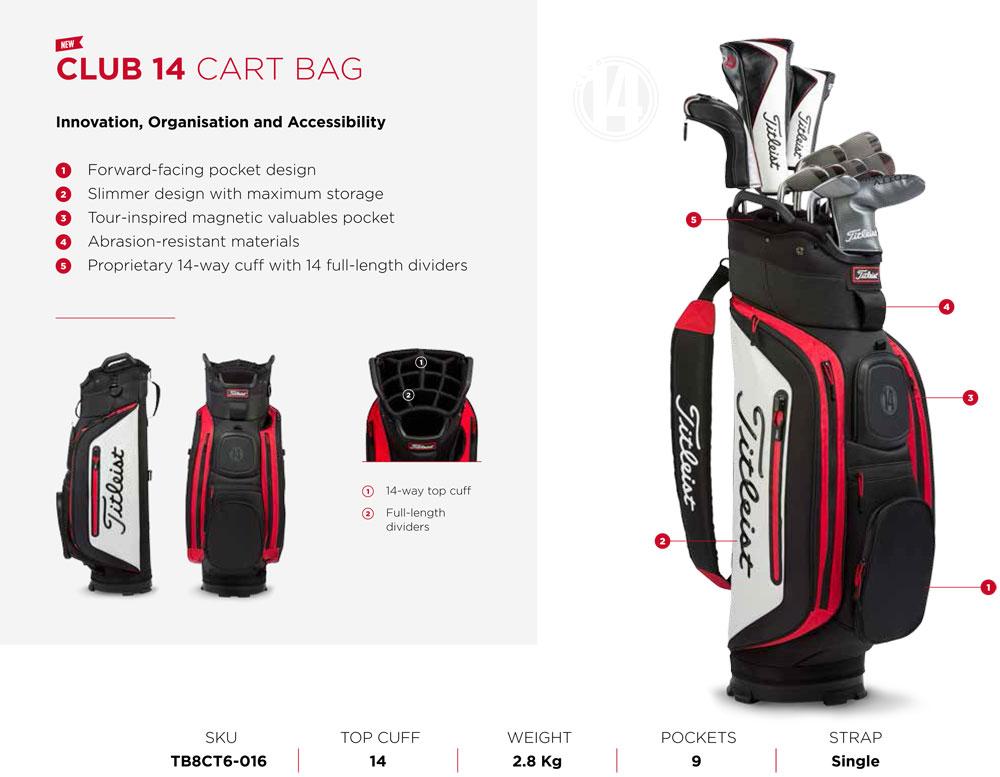 Leist Club 14 Cart Bag Features