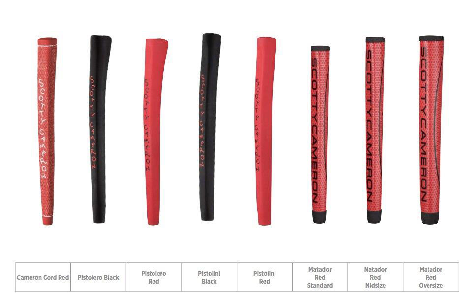 Titleist Scotty Cameron Putter Grip Selection