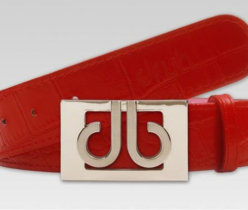 Druh Tour Collection Golf Belts - Red Croc Leather