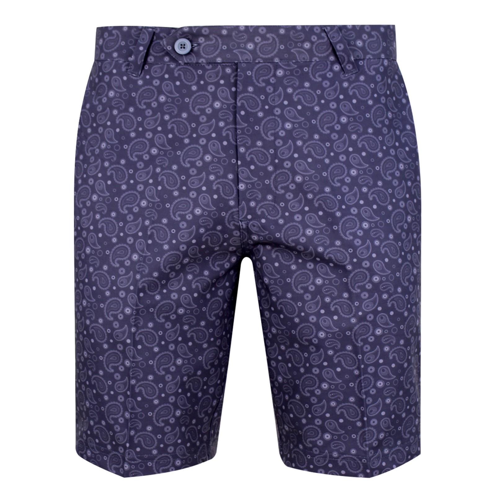 Bunker Mentality Kade Paisley Polyester Shorts