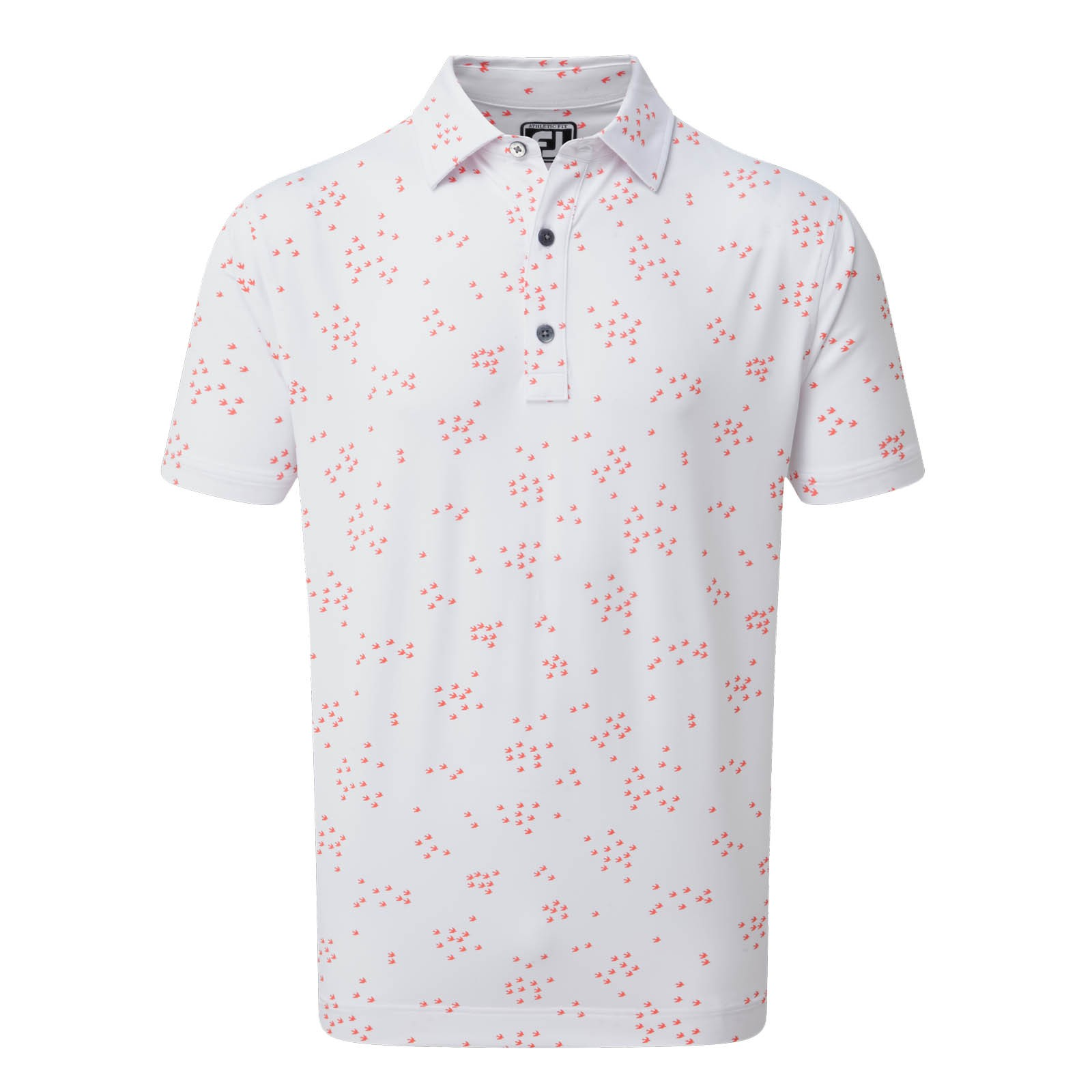Footjoy Lisle Flock of Birds Print Polo