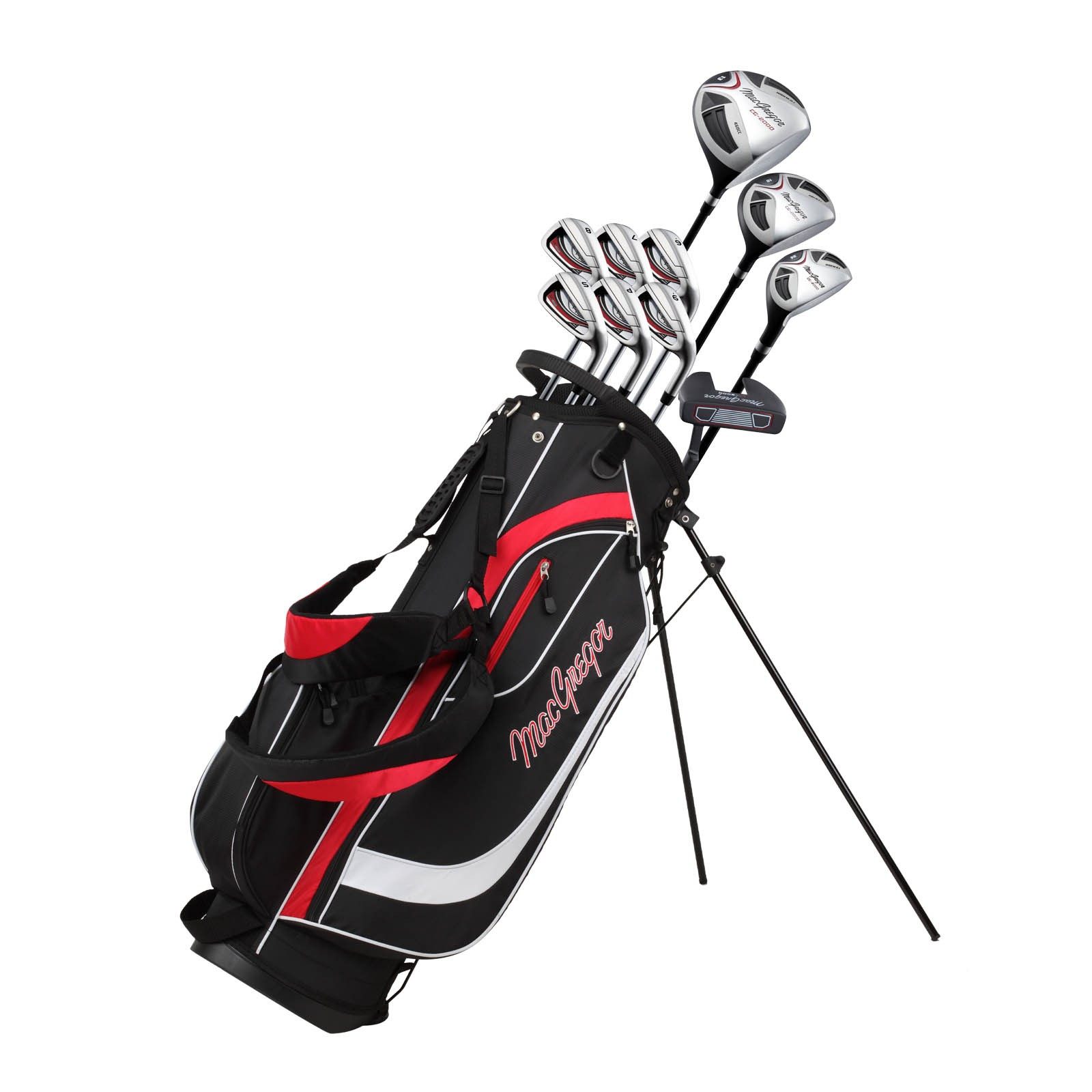 MacGregor CG2000 Mens Stand Bag Steel Package Set