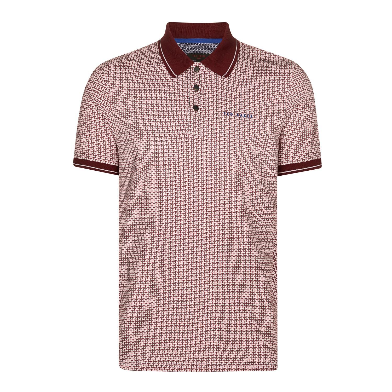Ted Baker Golf Geo Print Polo Shirt