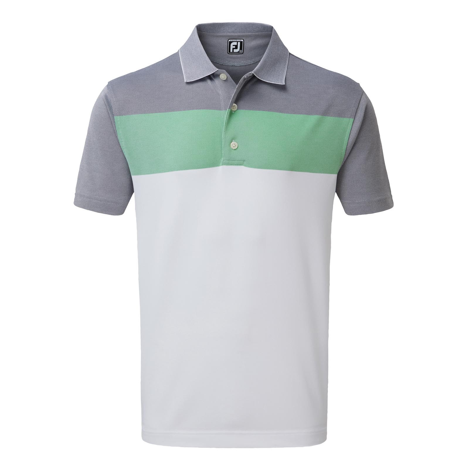 Footjoy Birdseye Jacquard Colour Block Polo