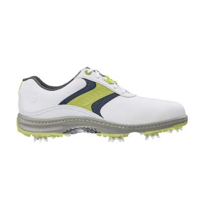Footjoy Contour Golf Shoes White/Lime/Navy