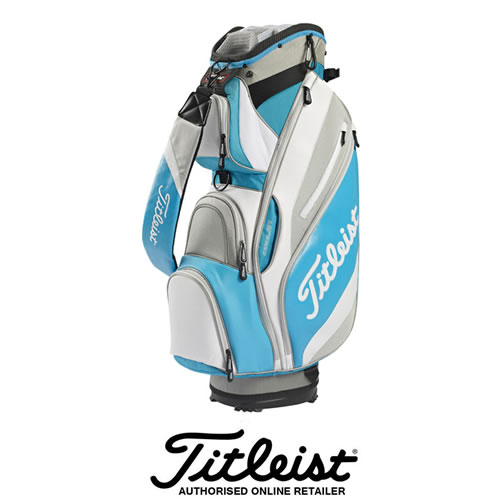 Titleist Reverse Cart bag in Light Blue/White/Grey