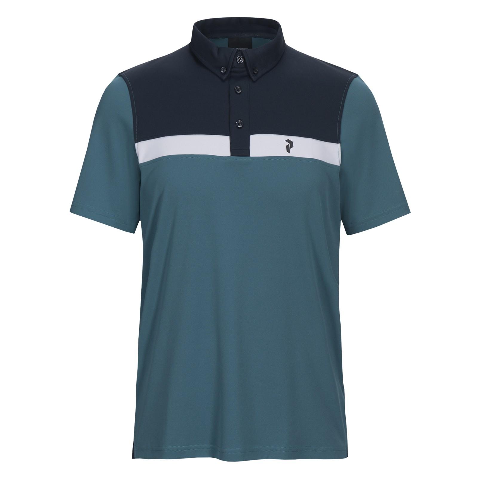 Peak Performance Panmore Button Down Stripe Polo Shirts