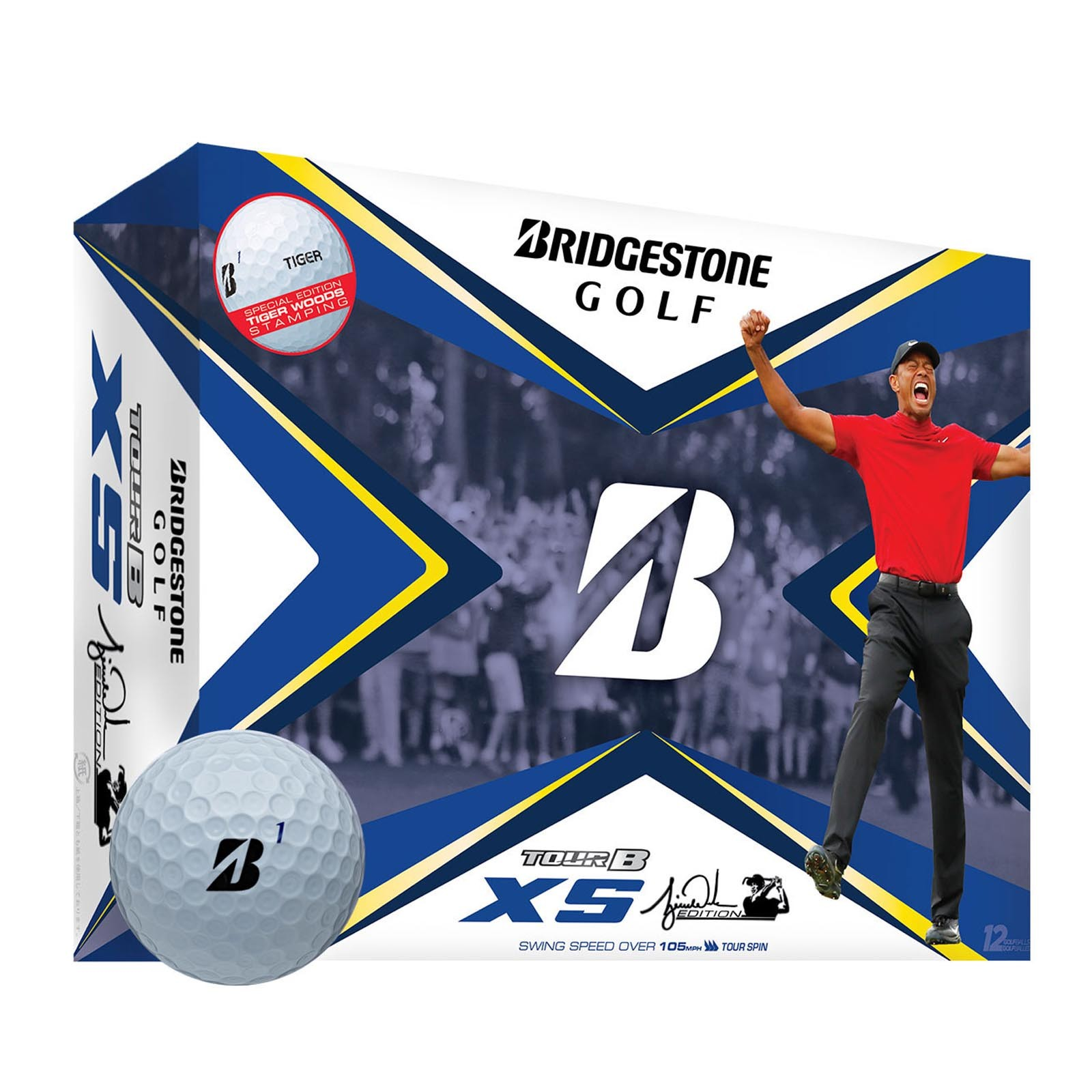 Bridgestone Tiger Woods Limited Edition Tour B XS Golf Balls