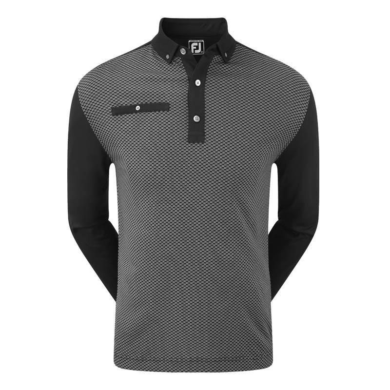 Footjoy Long Sleeve Dot Geo Jacquard Shirts - Multibuy x 2