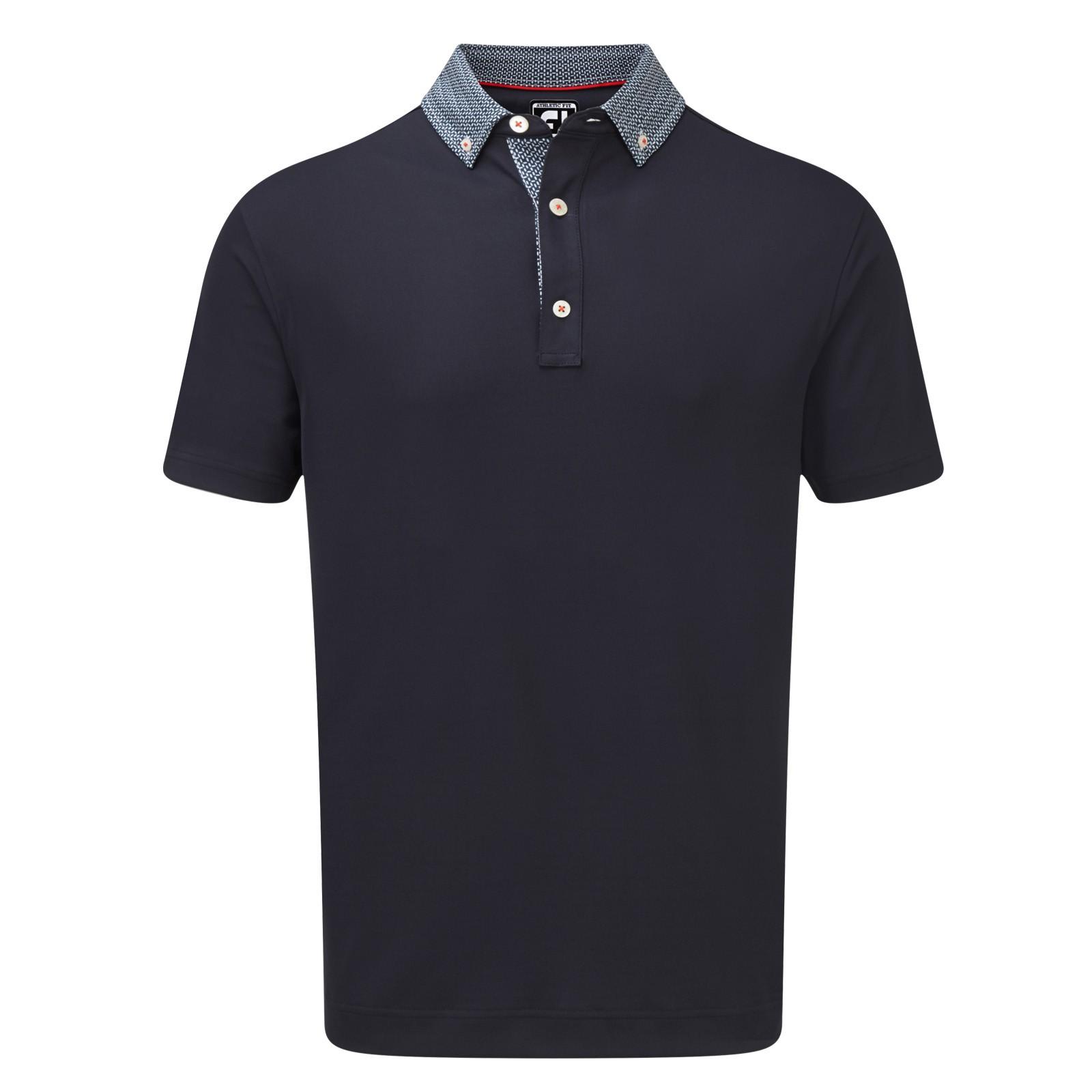 Footjoy Stretch Pique with Woven Buttondown Collar Polo