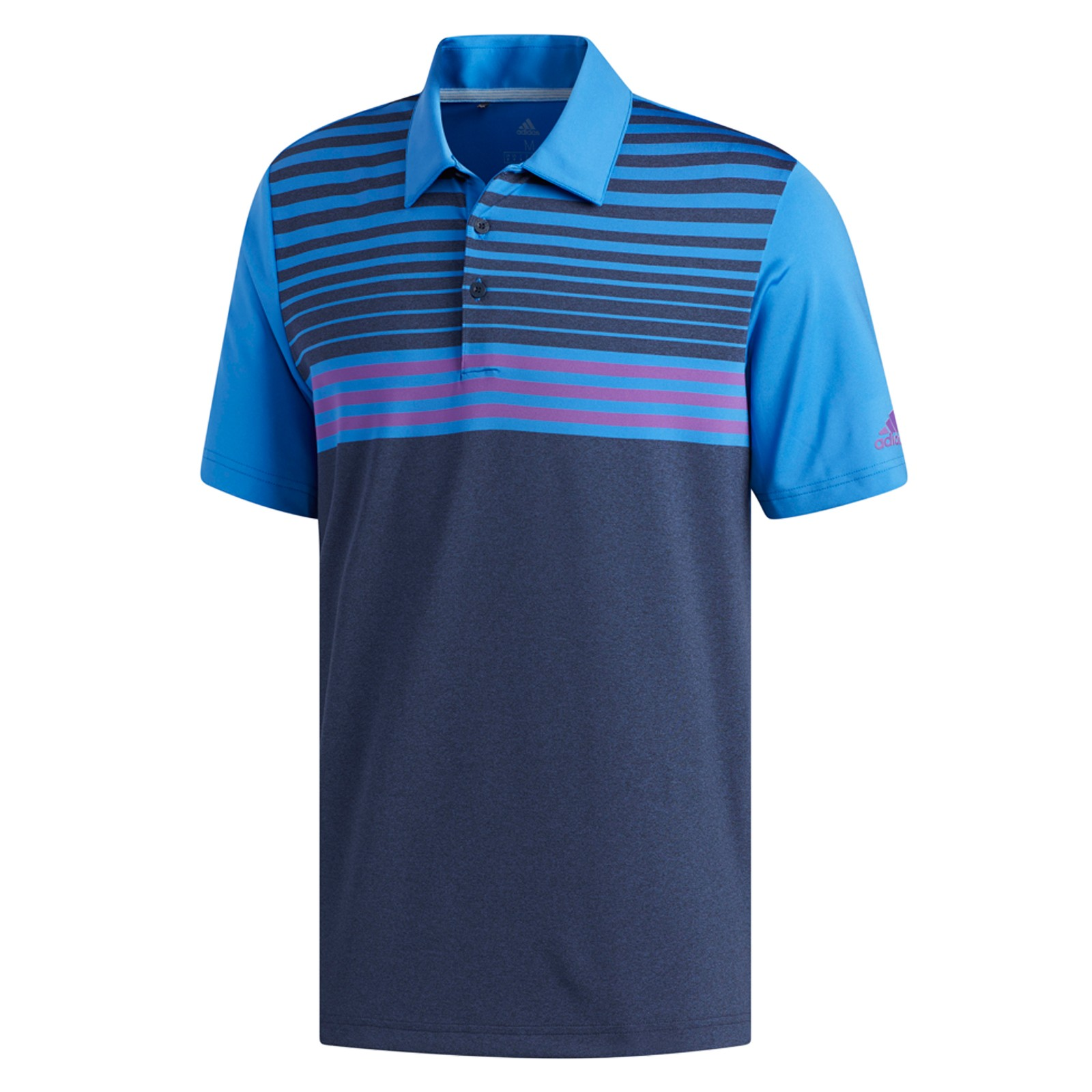 06c3544d3 adidas Ultimate 365 3 Stripes Heather Polo