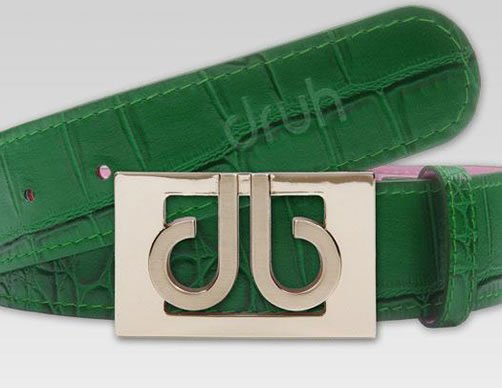 Druh Tour Collection Golf Belts - Green Croc Leather