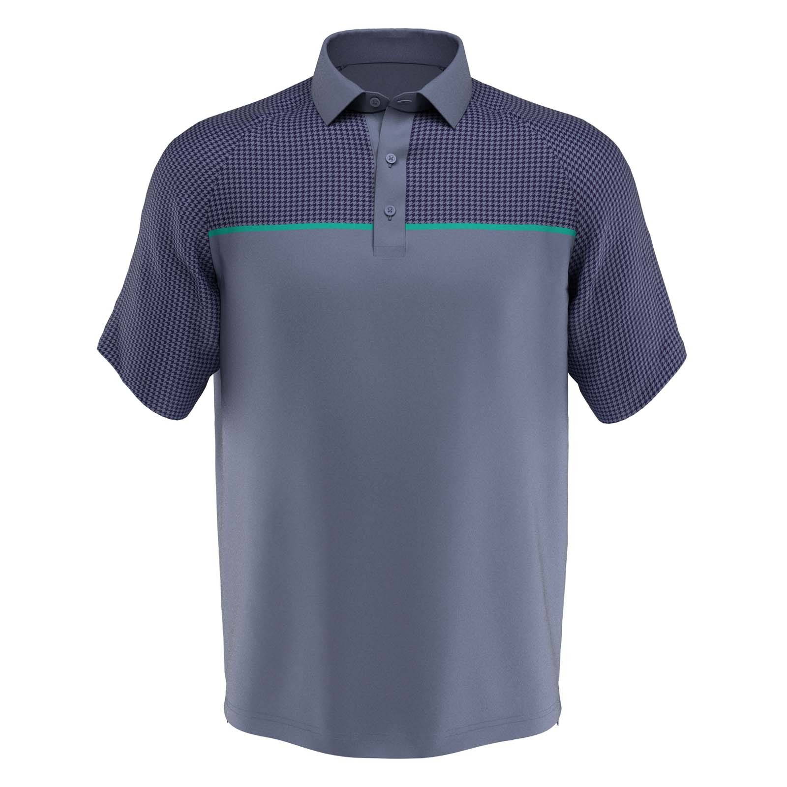 Callaway Houndstooth Chest Print Polo