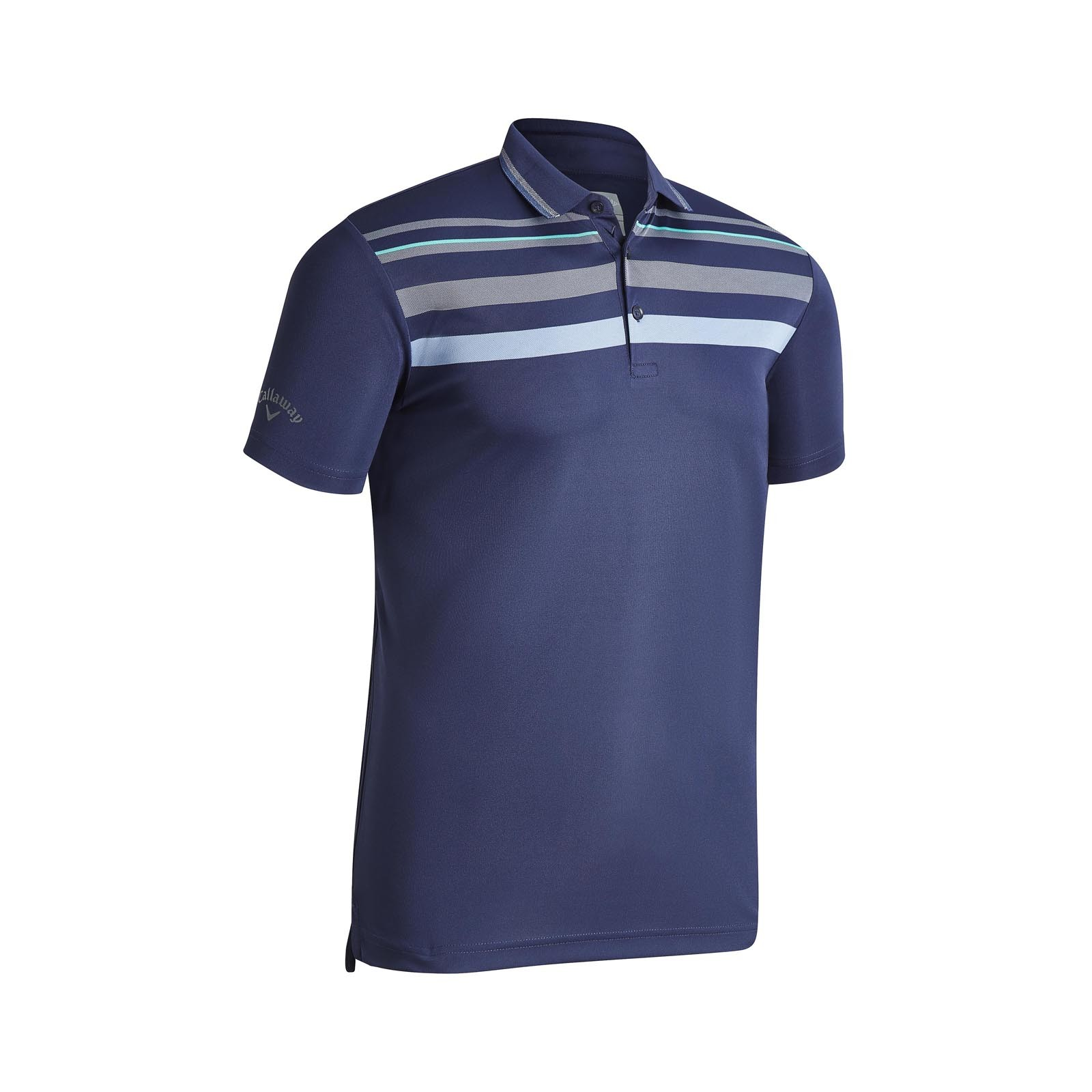 Callaway Birdseye Chest Stripe Polo