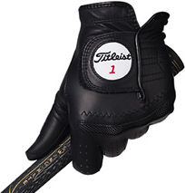 Black Titleist Perma-Soft Golf Glove