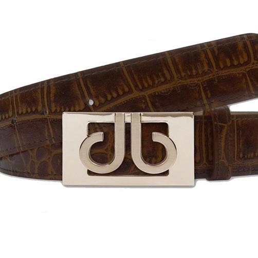 Druh Tour Collection Golf Belt - Dark Brown Croc Leather
