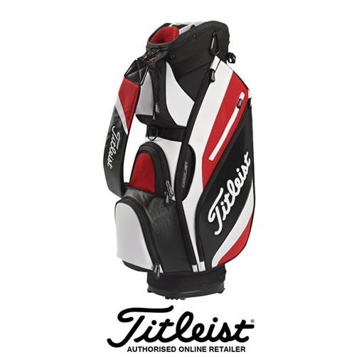 Titleist Reverse Cart bag in Black/White/Red
