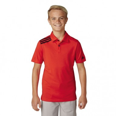 adidas Junior 3-Stripes Solid Polo Shirts