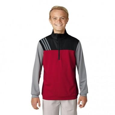 adidas Junior Fashion 3-Stripes Half-Zip Layers