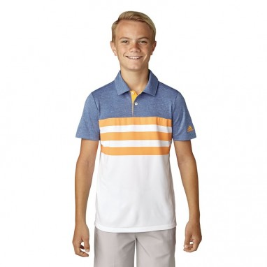 adidas Junior 3-Stripes Fashion Polo Shirts