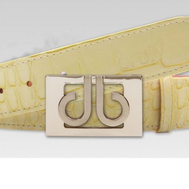 Druh Tour Collection Golf Belts - Cream Croc Leather