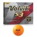 Volvik S3 Golf Balls - Orange