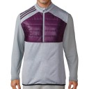 Adidas Climaheat Quilted Half Zip Vests - Red Night