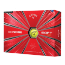 Callaway Chrome Soft Golf Balls - Yellow