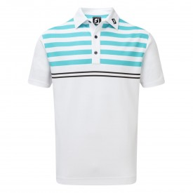 Footjoy Smooth Pique With Graphic Stripes Polo