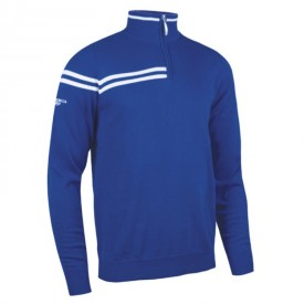 Glenmuir Zip Neck Double Chest Stripe Sweaters