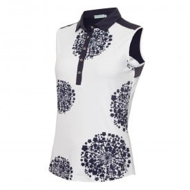 Green Lamb Enid Print Sleeveless Polo Shirts