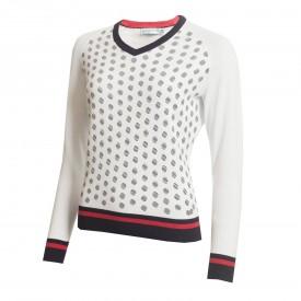 Green Lamb Gabriella Mini Spot V-Neck Sweaters