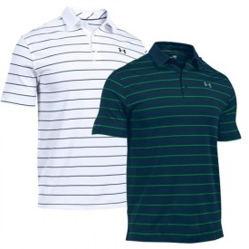 Under Armour Coldblack Swing Plane Stripe Polo Shirts