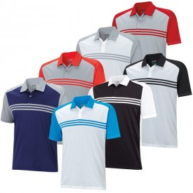 Adidas Climacool Sport Classic 3 Stripe Polos