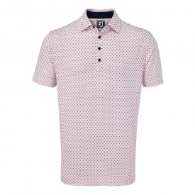 Footjoy Stretch Lisle Palm Print Polo
