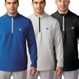 Adidas Climastorm Hybrid Heathered 1/4 Zip Tops