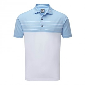 Footjoy Stretch Pique Striped Colour Block Polo Shirts
