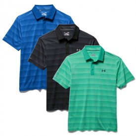 Under Armour Coldblack Chip In Stripe Polo Shirts