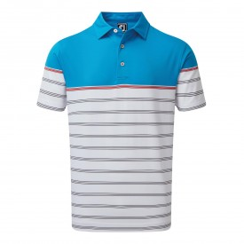 Footjoy Stretch Lisle Colour Block Stripe Polo