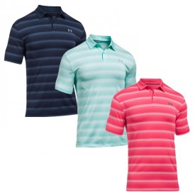 Under Armour Coolswitch Bermuda Stripe Polo Shirts