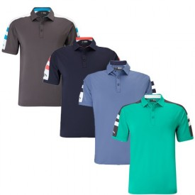 Callaway Contrast Shoulder Block Polo Shirts
